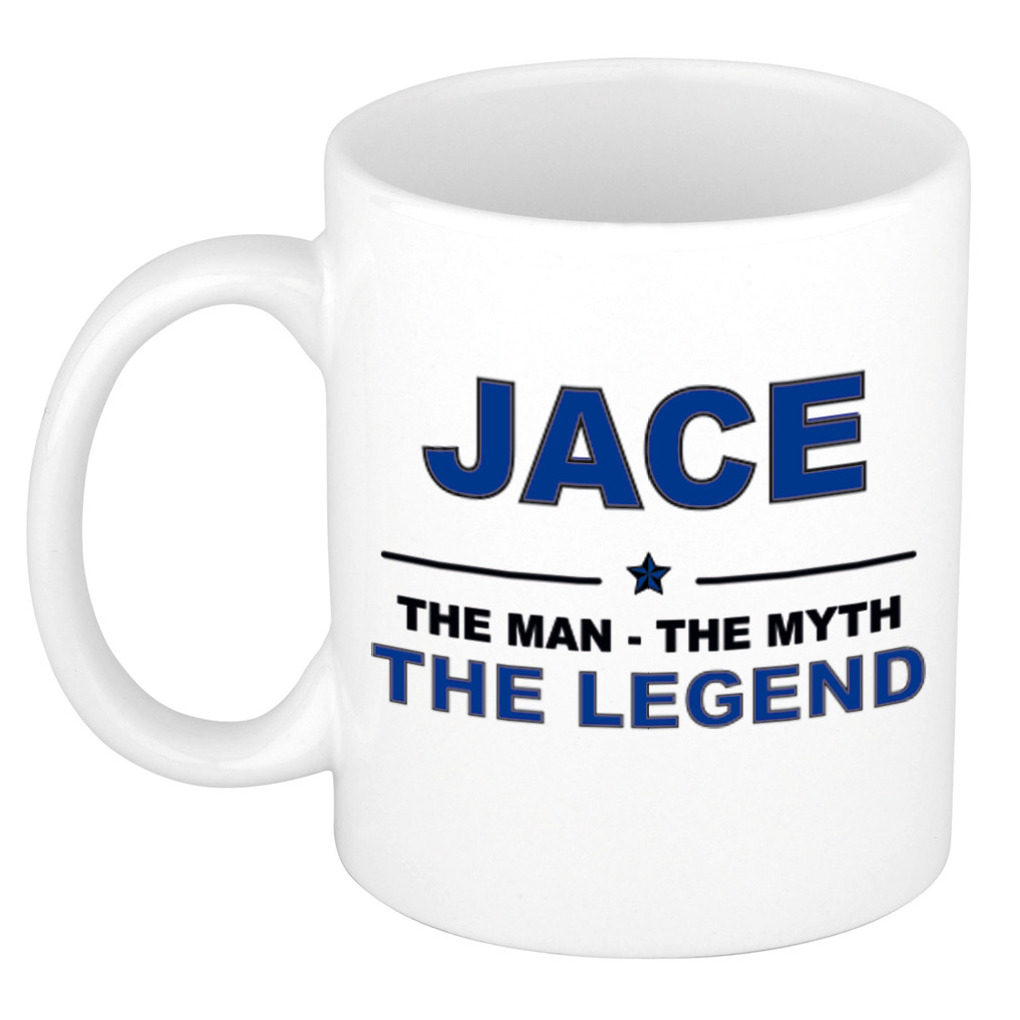 Jace The man, The myth the legend pensioen cadeau mok/beker 300 ml
