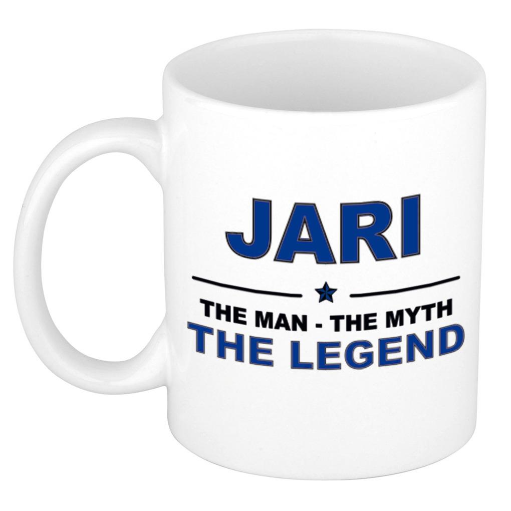 Jari The man, The myth the legend pensioen cadeau mok/beker 300 ml
