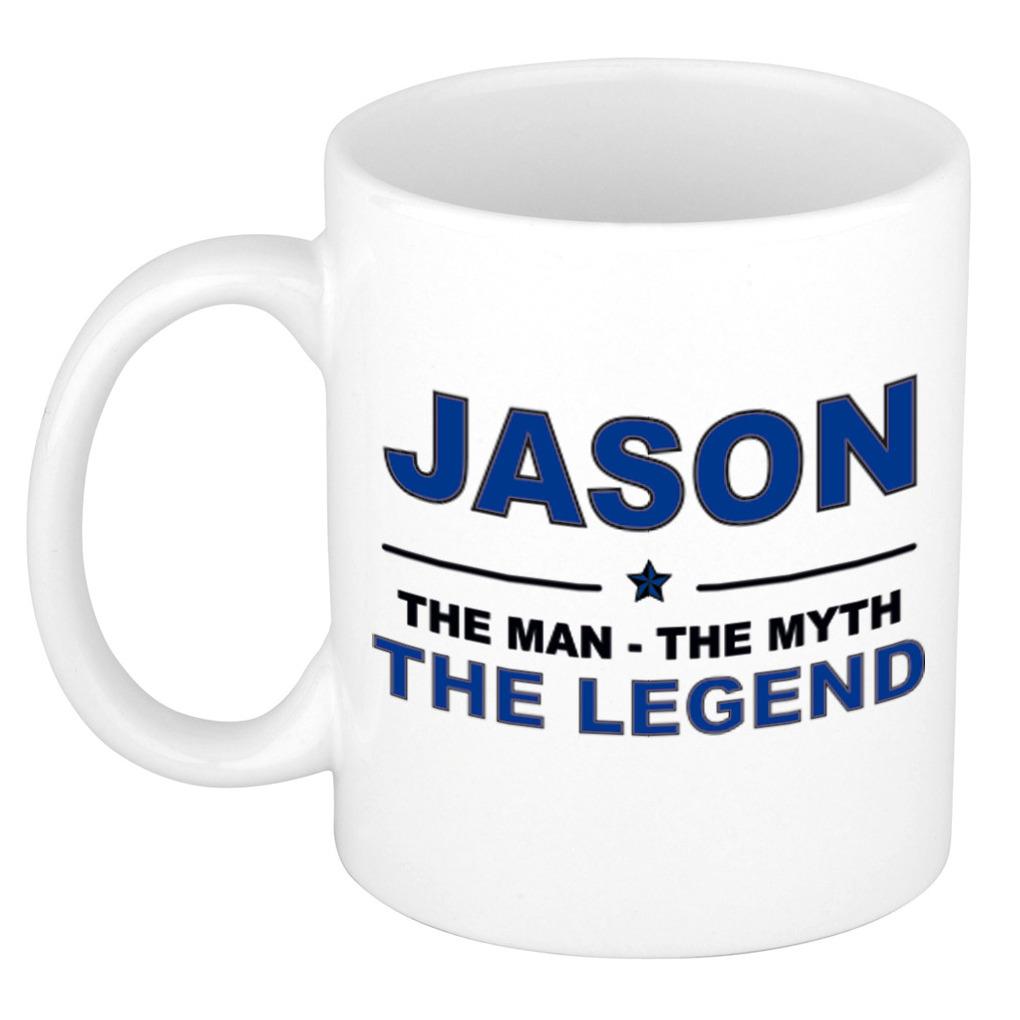 Jason The man, The myth the legend pensioen cadeau mok/beker 300 ml
