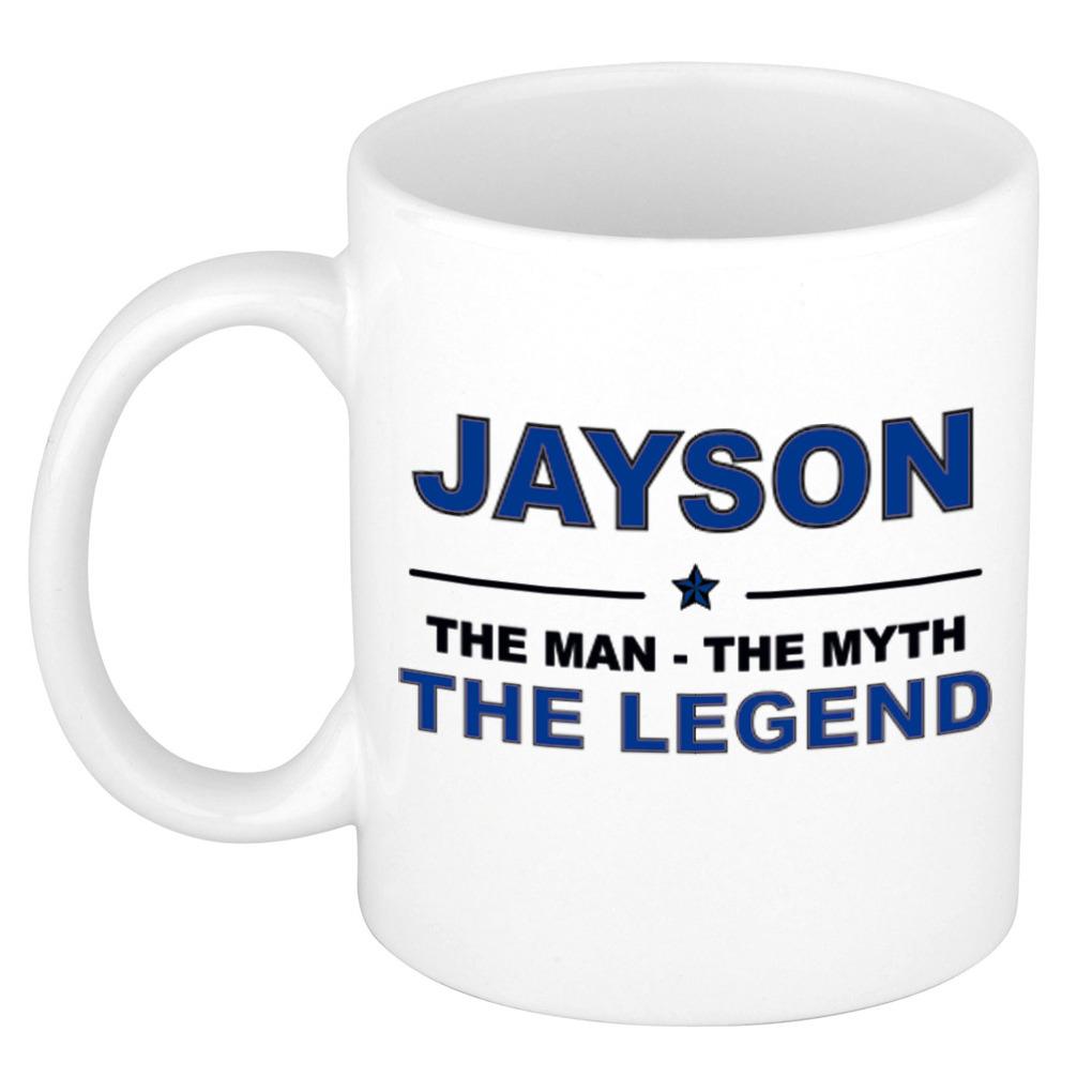 Jayson The man, The myth the legend pensioen cadeau mok/beker 300 ml