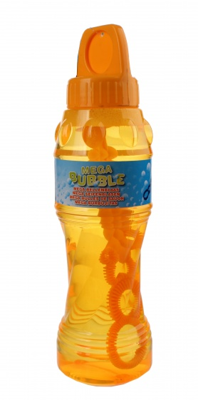 Johntoy Aqua Fun bellenblaas met blaasstok 1 liter oranje