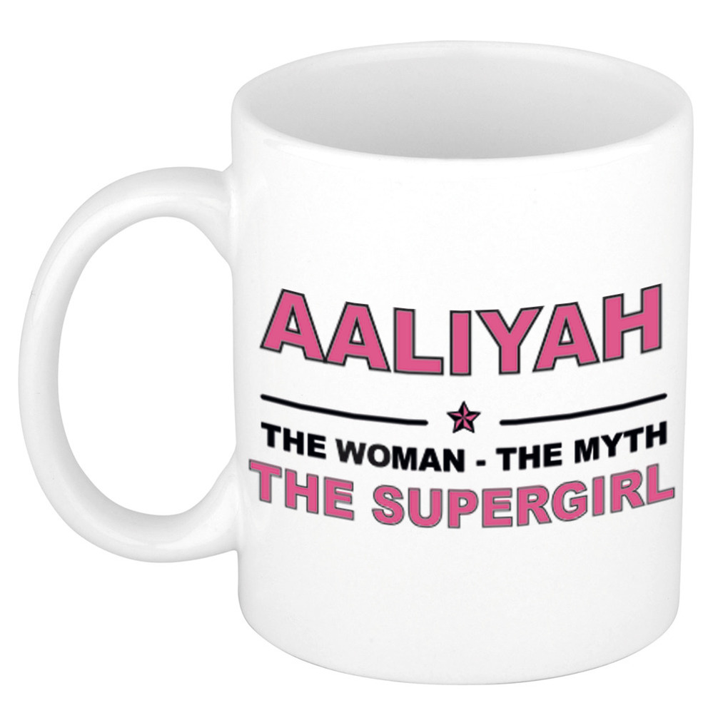 Aaliyah The woman, The myth the supergirl pensioen cadeau mok/beker 300 ml