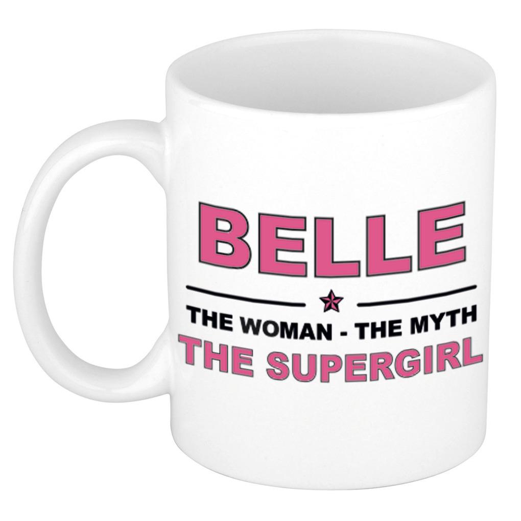 Belle The woman, The myth the supergirl pensioen cadeau mok/beker 300 ml