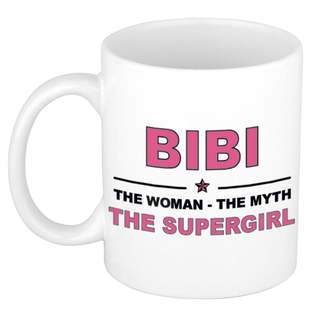 Bibi The woman, The myth the supergirl pensioen cadeau mok/beker 300 ml