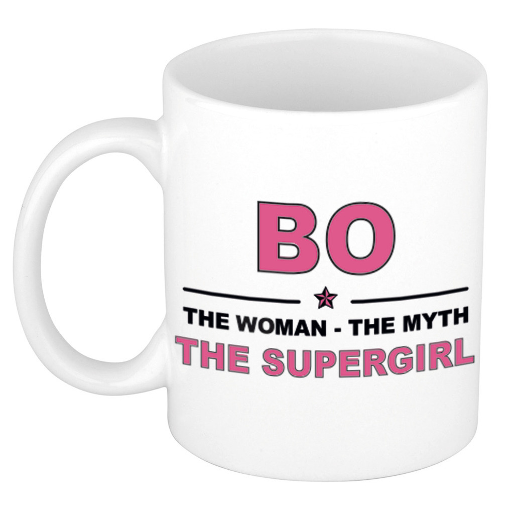 Bo The woman, The myth the supergirl pensioen cadeau mok/beker 300 ml