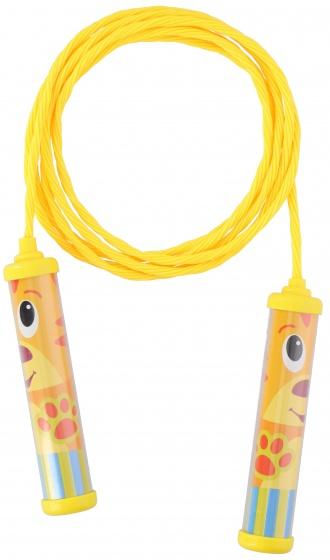 Eddy Toys springtouw 230 cm geel