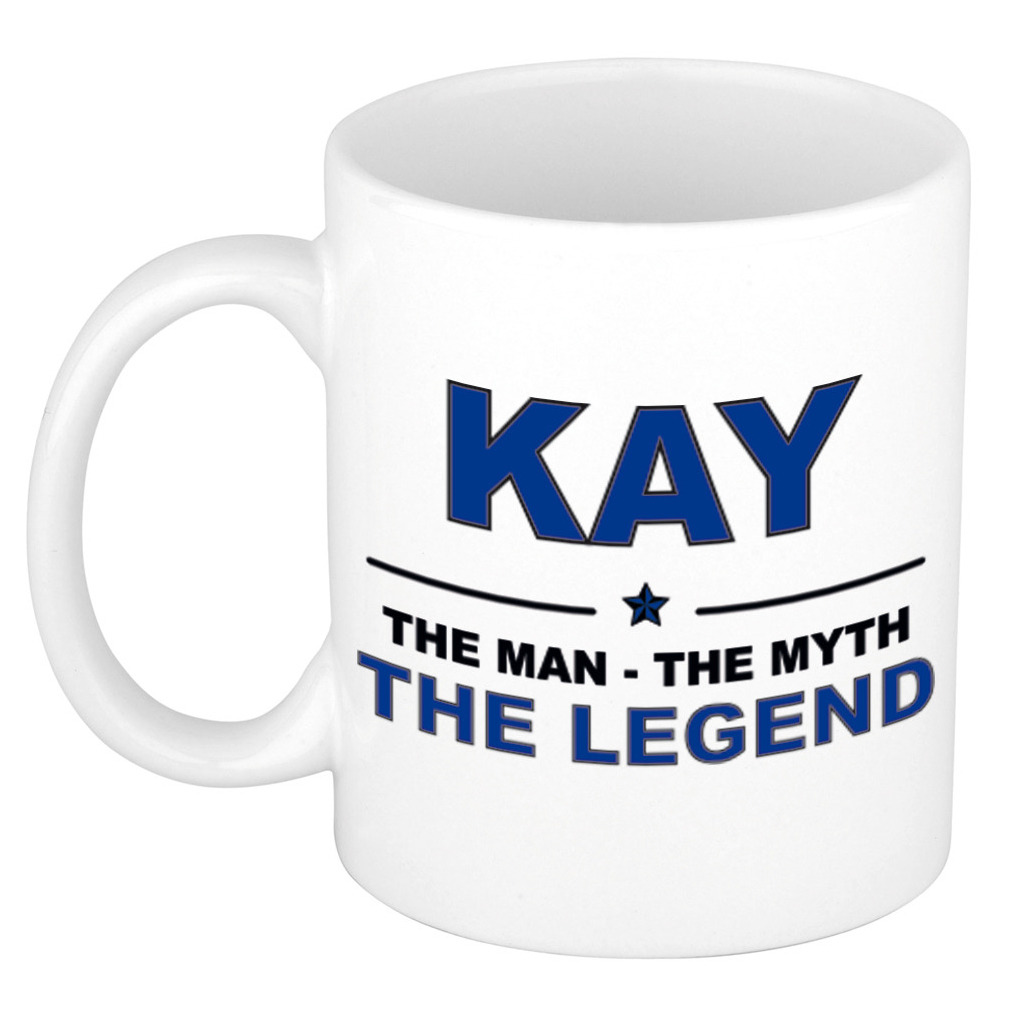 Kay The man, The myth the legend pensioen cadeau mok/beker 300 ml