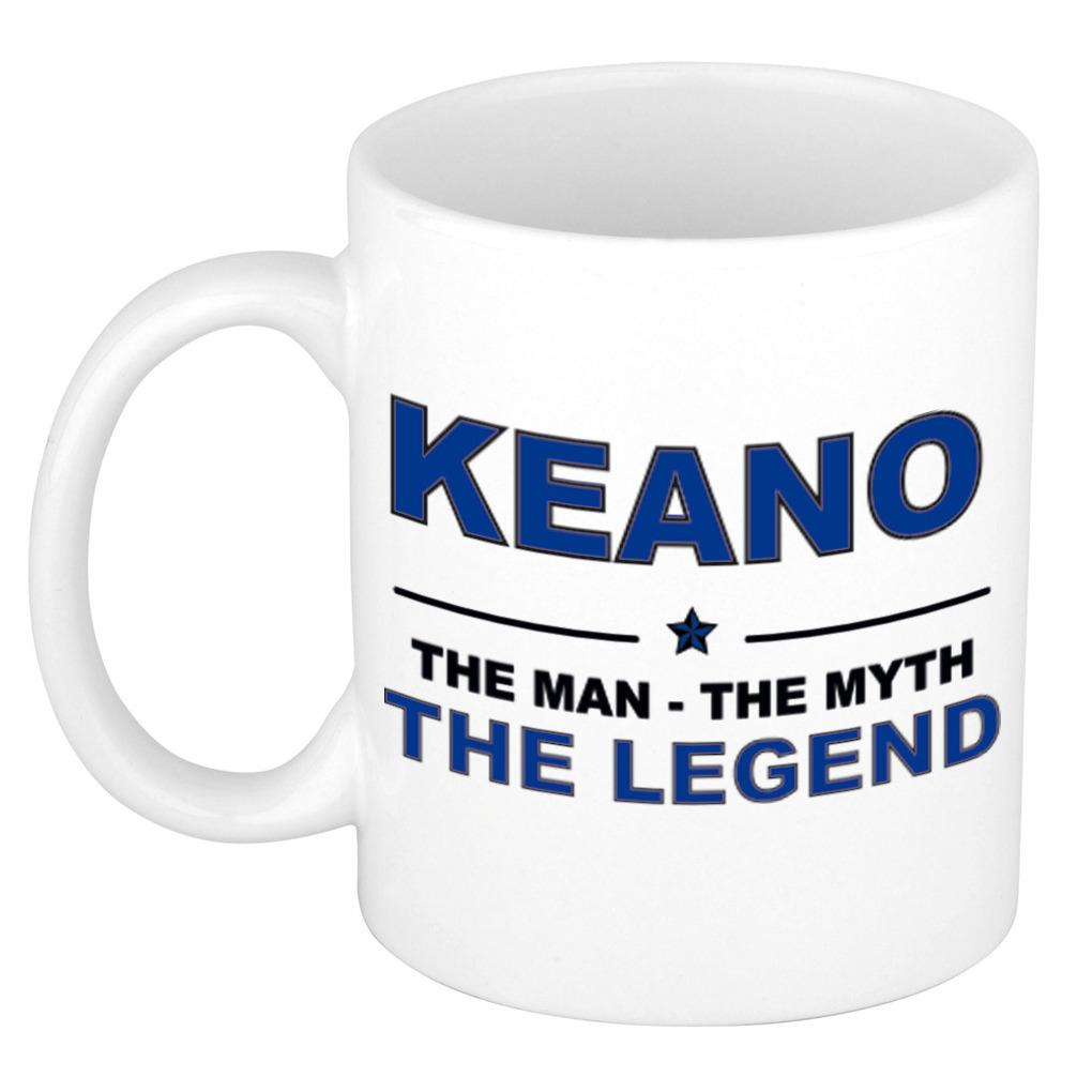 Keano The man, The myth the legend pensioen cadeau mok/beker 300 ml