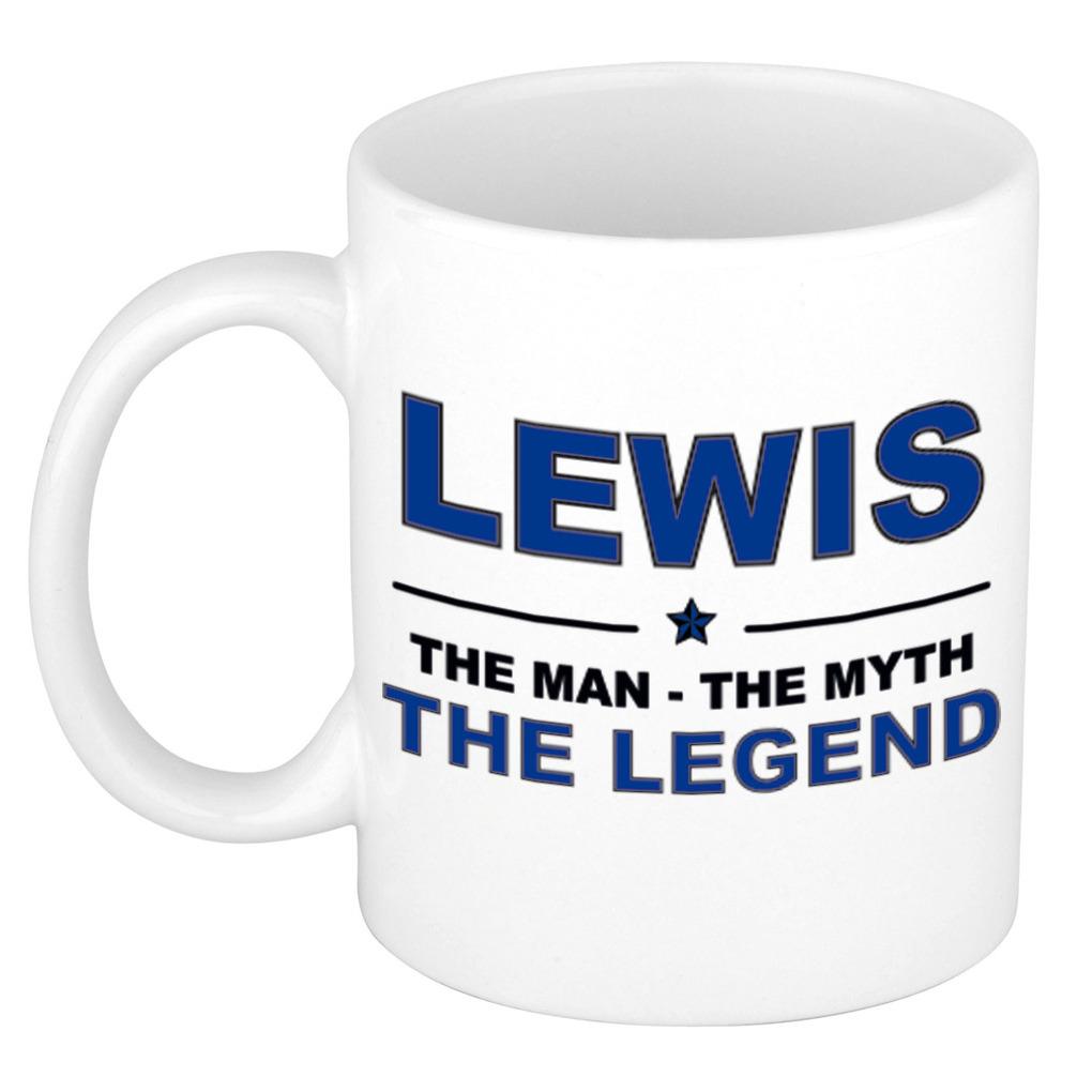Lewis The man, The myth the legend pensioen cadeau mok/beker 300 ml