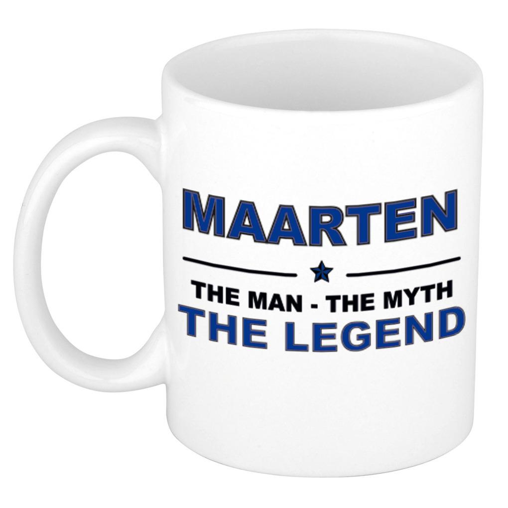 Maarten The man, The myth the legend pensioen cadeau mok/beker 300 ml