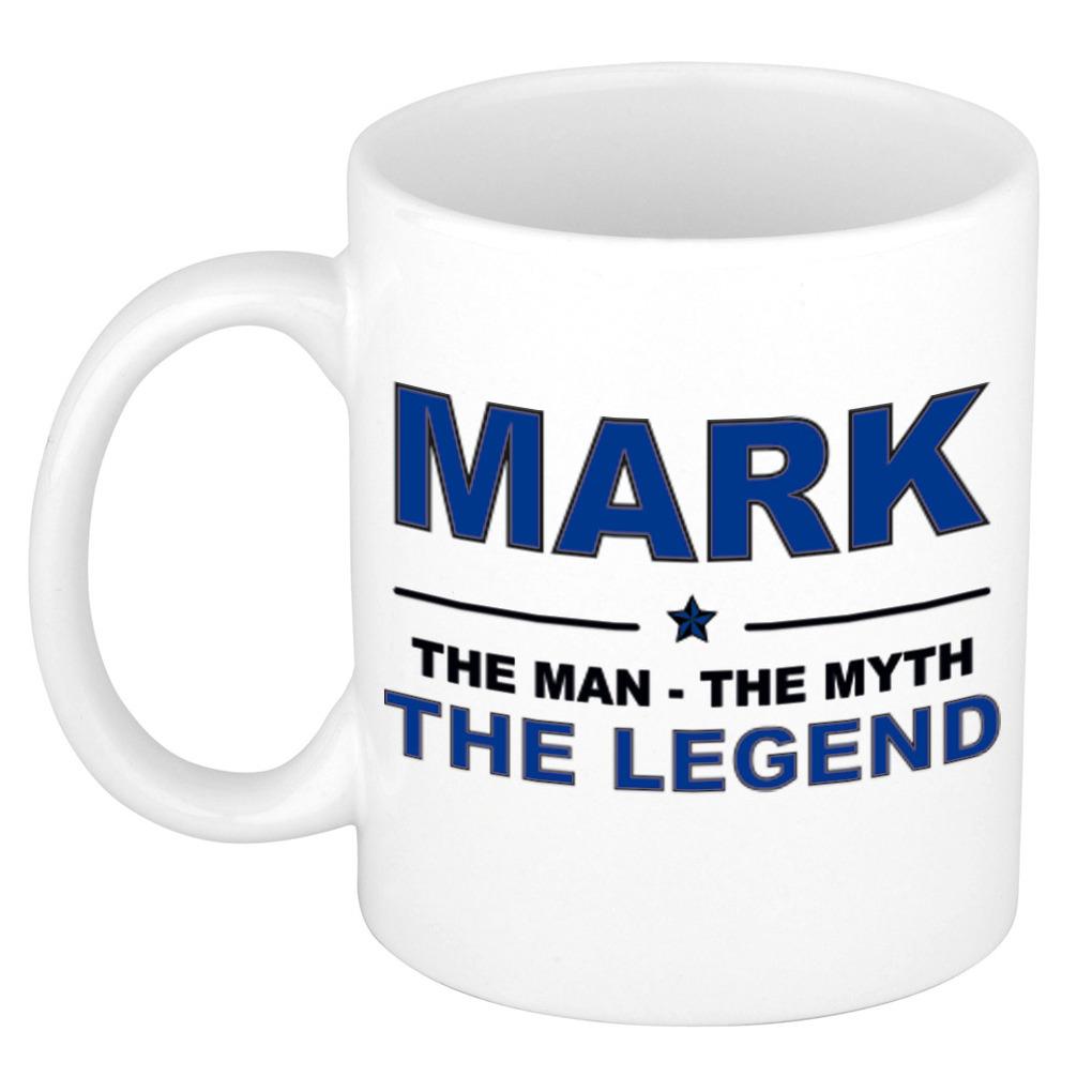 Mark The man, The myth the legend pensioen cadeau mok/beker 300 ml