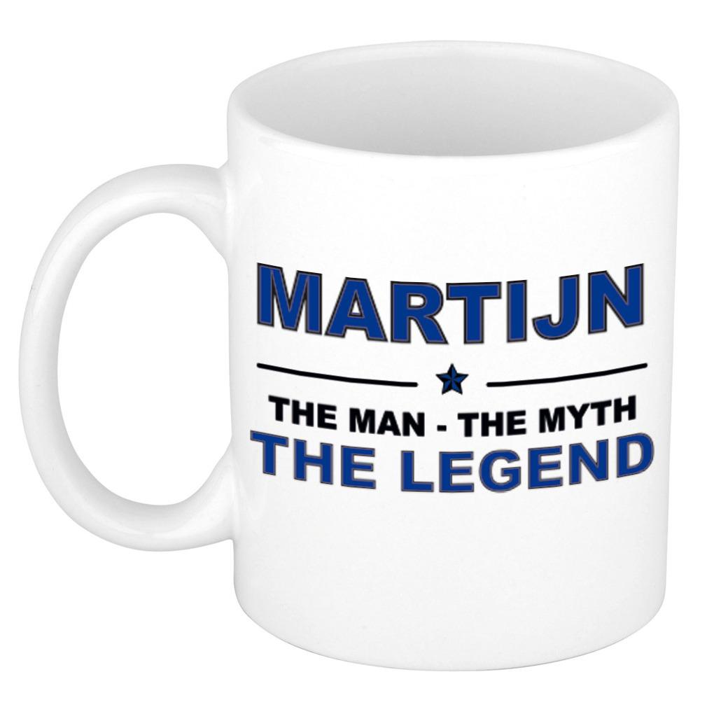 Martijn The man, The myth the legend pensioen cadeau mok/beker 300 ml