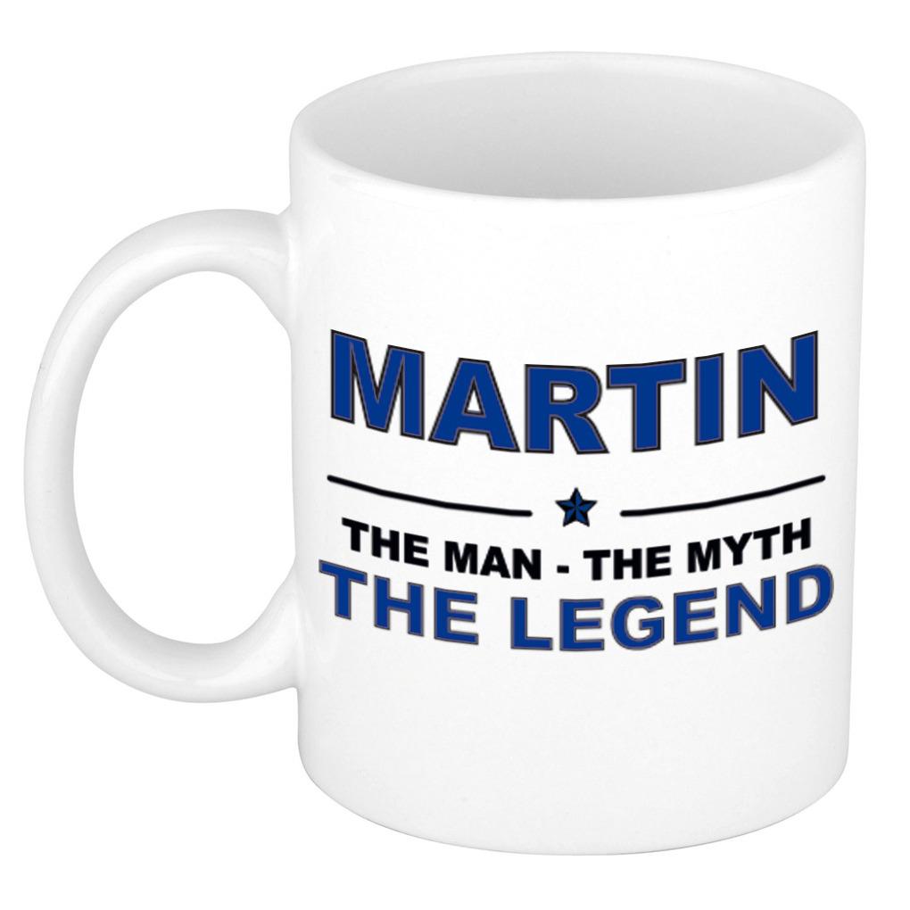 Martin The man, The myth the legend pensioen cadeau mok/beker 300 ml