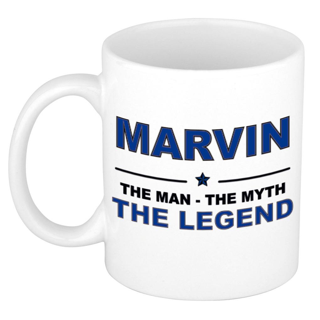 Marvin The man, The myth the legend pensioen cadeau mok/beker 300 ml