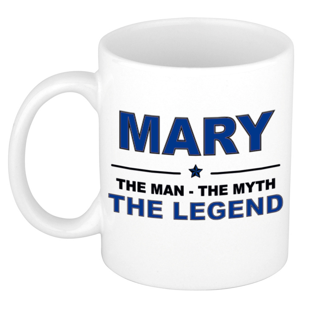 Mary The man, The myth the legend pensioen cadeau mok/beker 300 ml