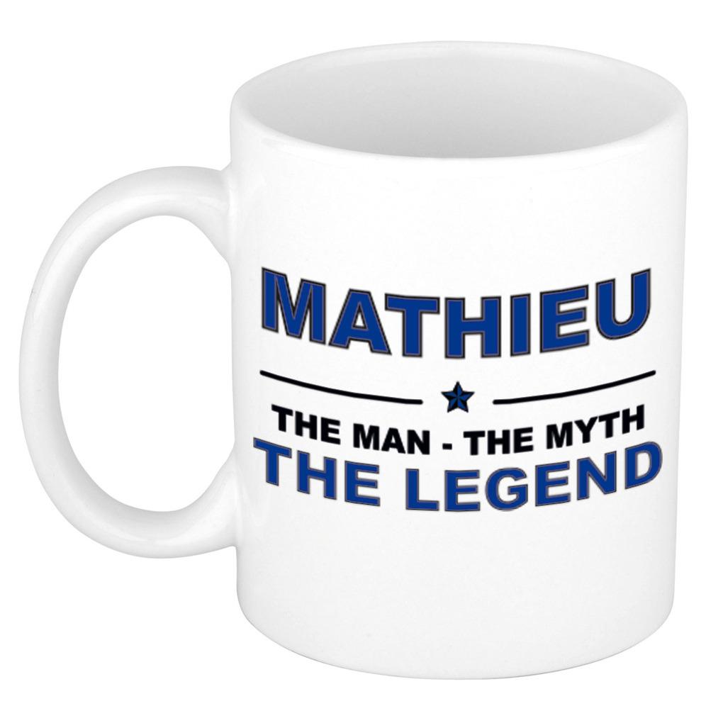 Mathieu The man, The myth the legend pensioen cadeau mok/beker 300 ml
