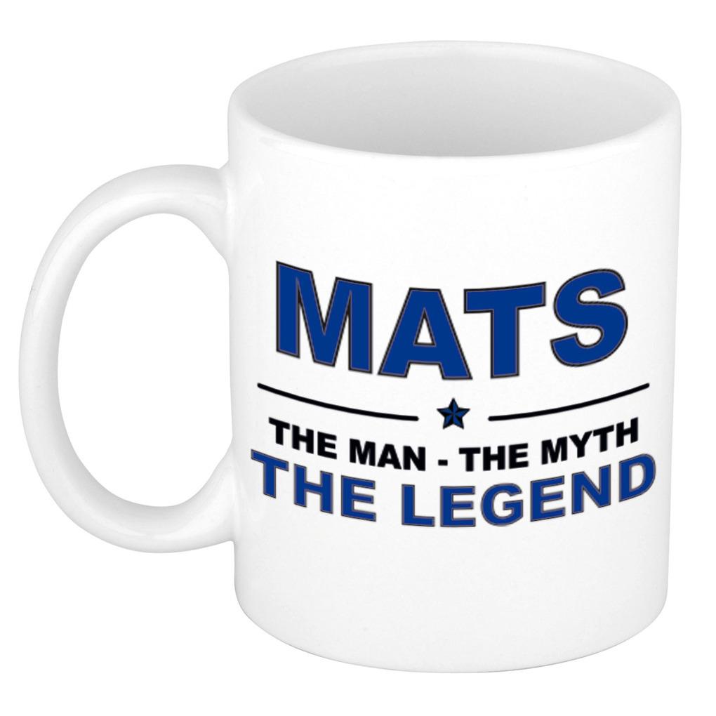 Mats The man, The myth the legend pensioen cadeau mok/beker 300 ml
