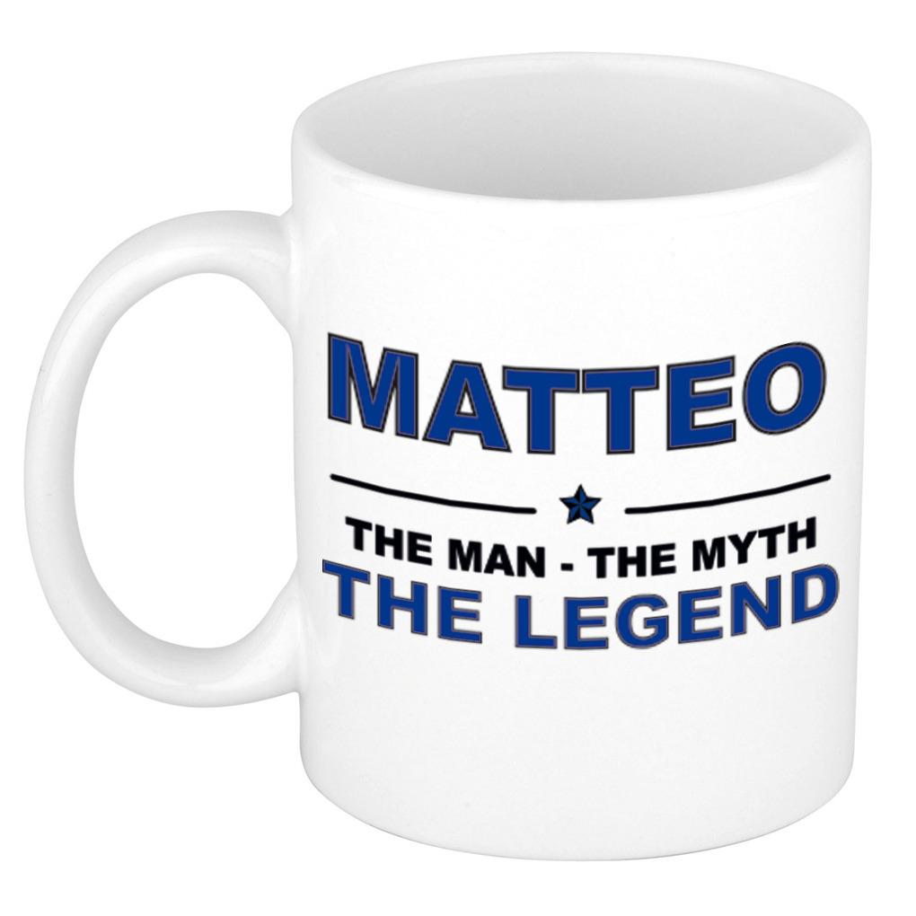 Matteo The man, The myth the legend pensioen cadeau mok/beker 300 ml