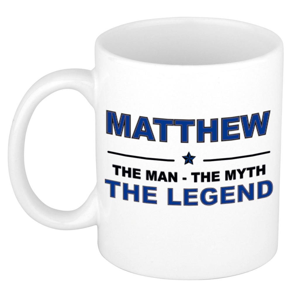Matthew The man, The myth the legend pensioen cadeau mok/beker 300 ml