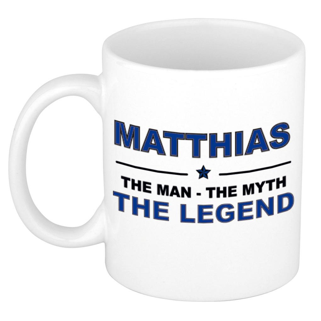 Matthias The man, The myth the legend pensioen cadeau mok/beker 300 ml