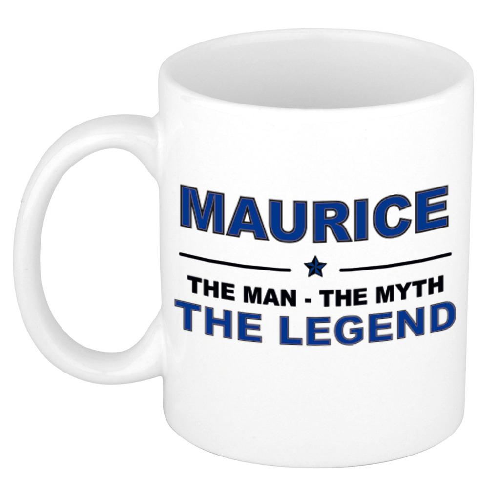 Maurice The man, The myth the legend pensioen cadeau mok/beker 300 ml