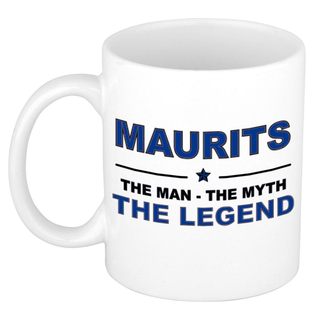 Maurits The man, The myth the legend pensioen cadeau mok/beker 300 ml