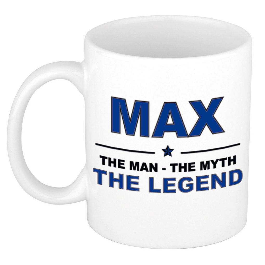Max The man, The myth the legend pensioen cadeau mok/beker 300 ml