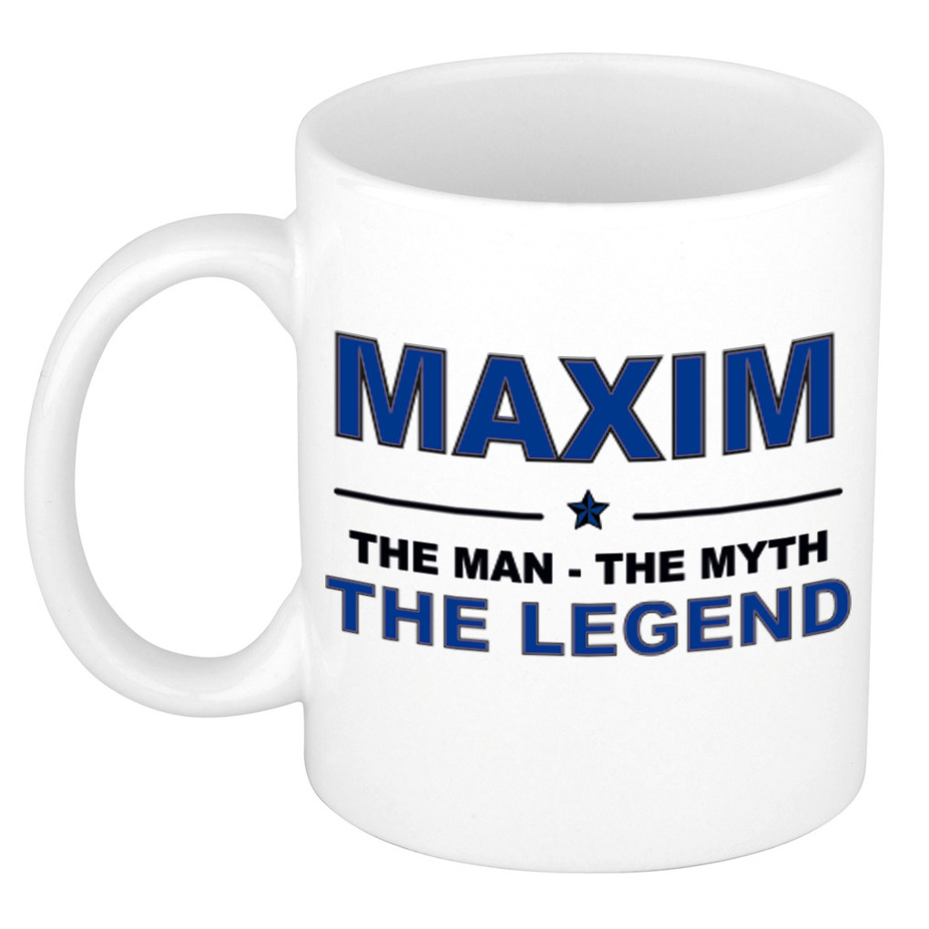 Maxim The man, The myth the legend pensioen cadeau mok/beker 300 ml