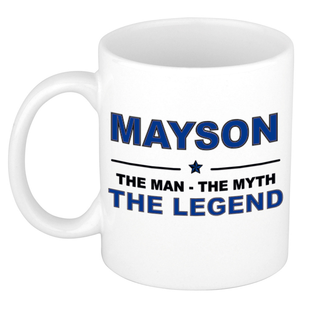 Mayson The man, The myth the legend pensioen cadeau mok/beker 300 ml