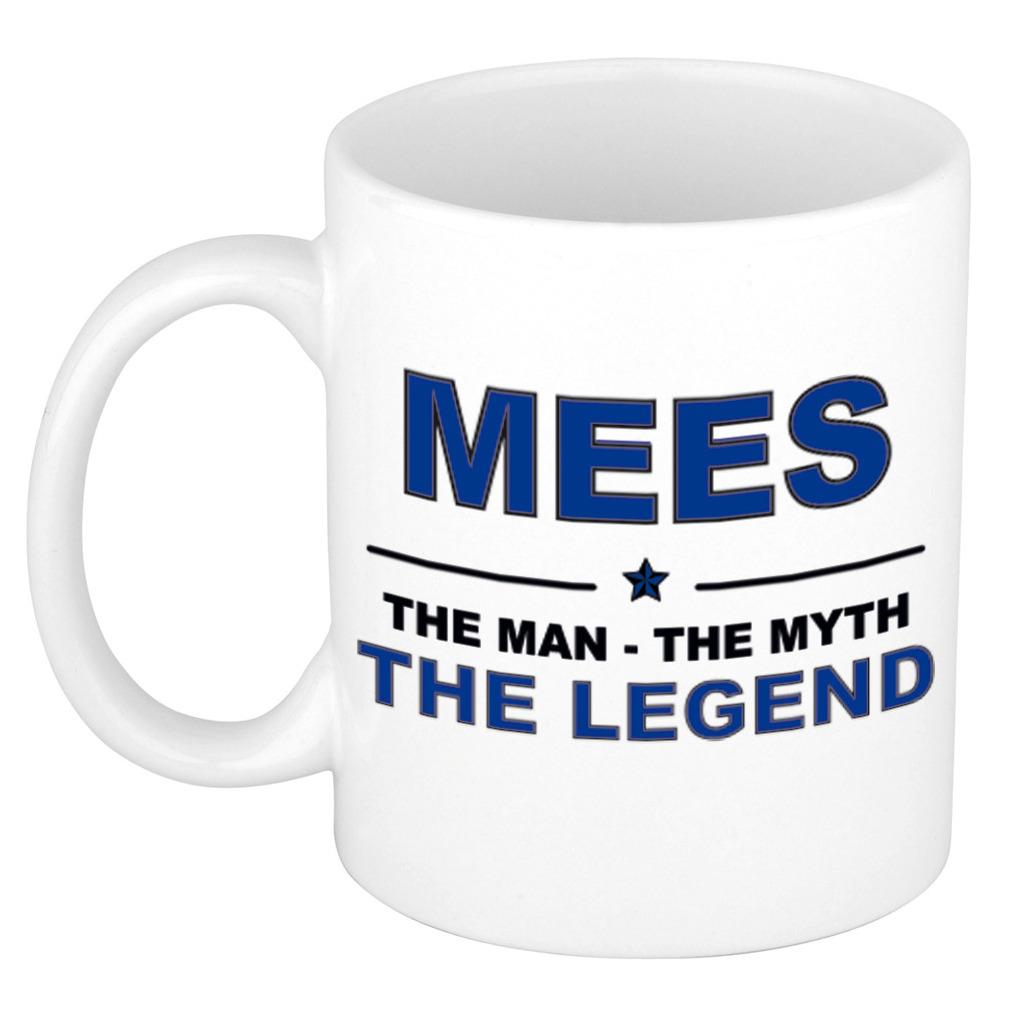 Mees The man, The myth the legend pensioen cadeau mok/beker 300 ml