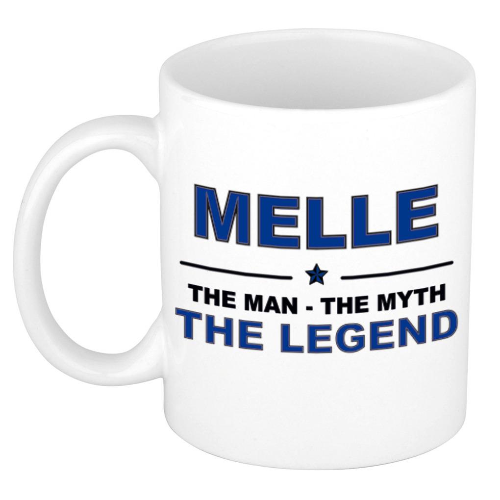 Melle The man, The myth the legend pensioen cadeau mok/beker 300 ml