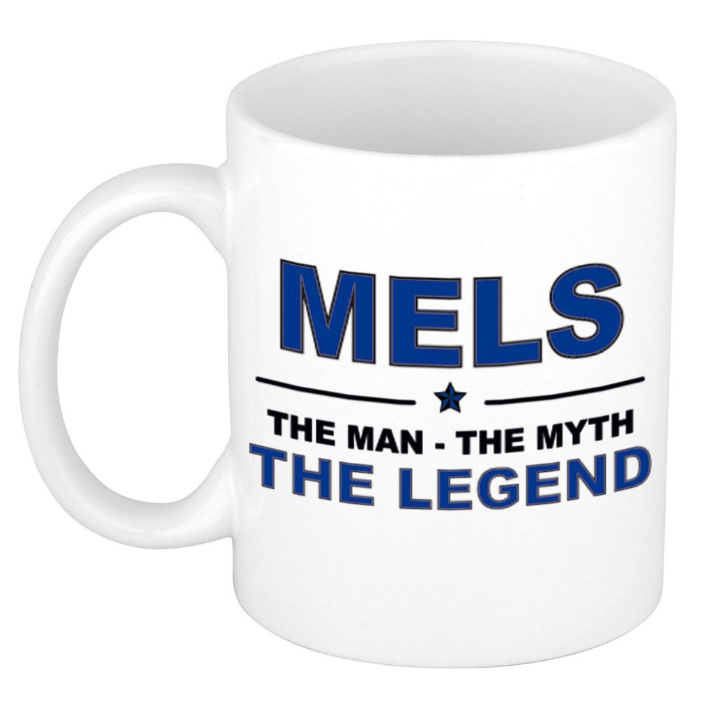 Mels The man, The myth the legend pensioen cadeau mok/beker 300 ml