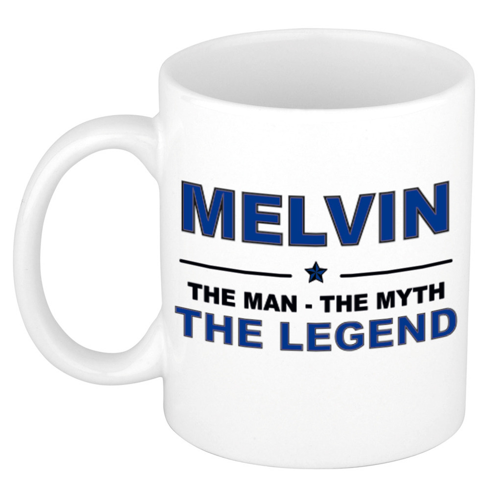 Melvin The man, The myth the legend pensioen cadeau mok/beker 300 ml