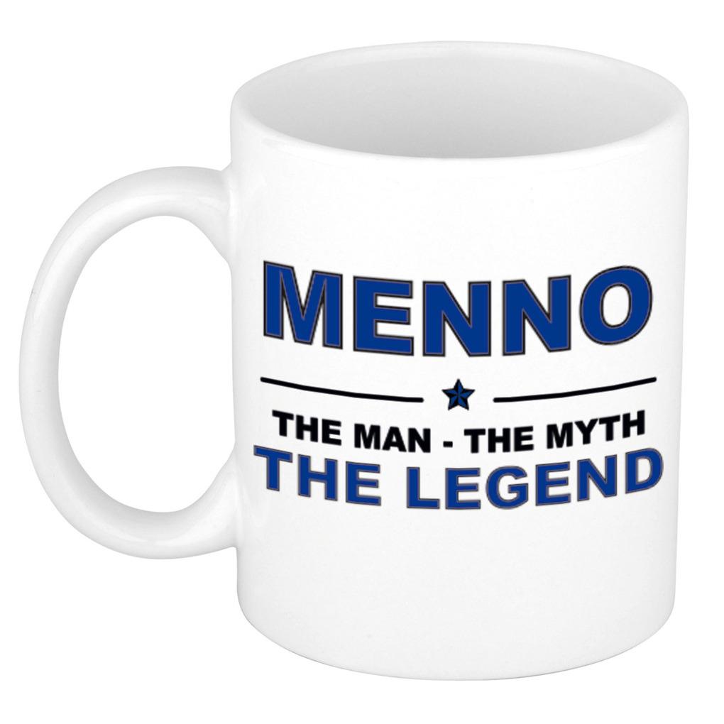 Menno The man, The myth the legend pensioen cadeau mok/beker 300 ml