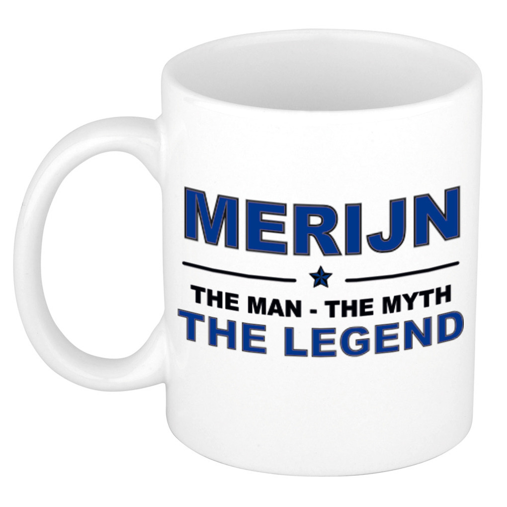 Merijn The man, The myth the legend pensioen cadeau mok/beker 300 ml