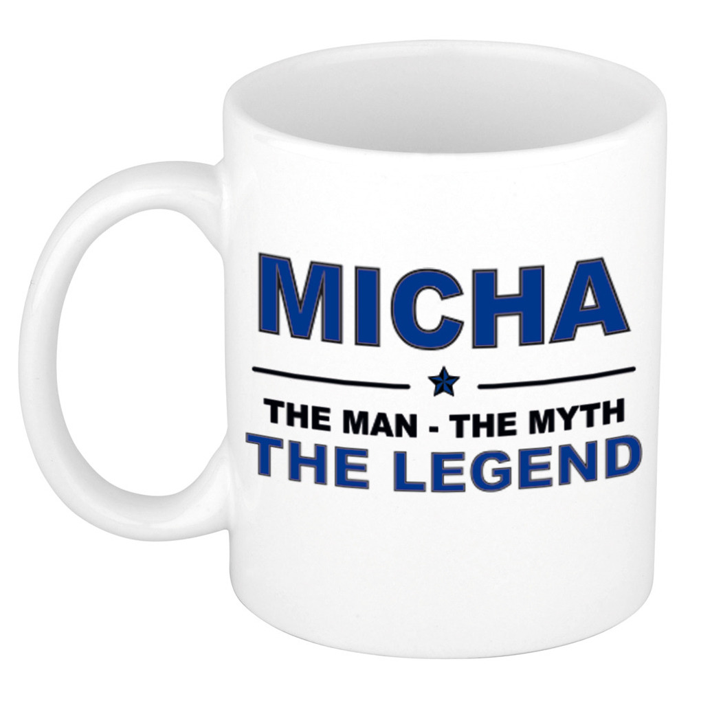 Micha The man, The myth the legend pensioen cadeau mok/beker 300 ml