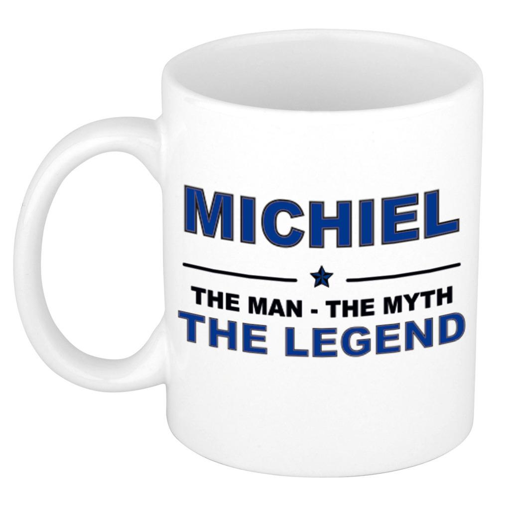 Michiel The man, The myth the legend pensioen cadeau mok/beker 300 ml