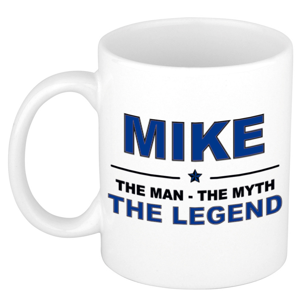 Mike The man, The myth the legend pensioen cadeau mok/beker 300 ml