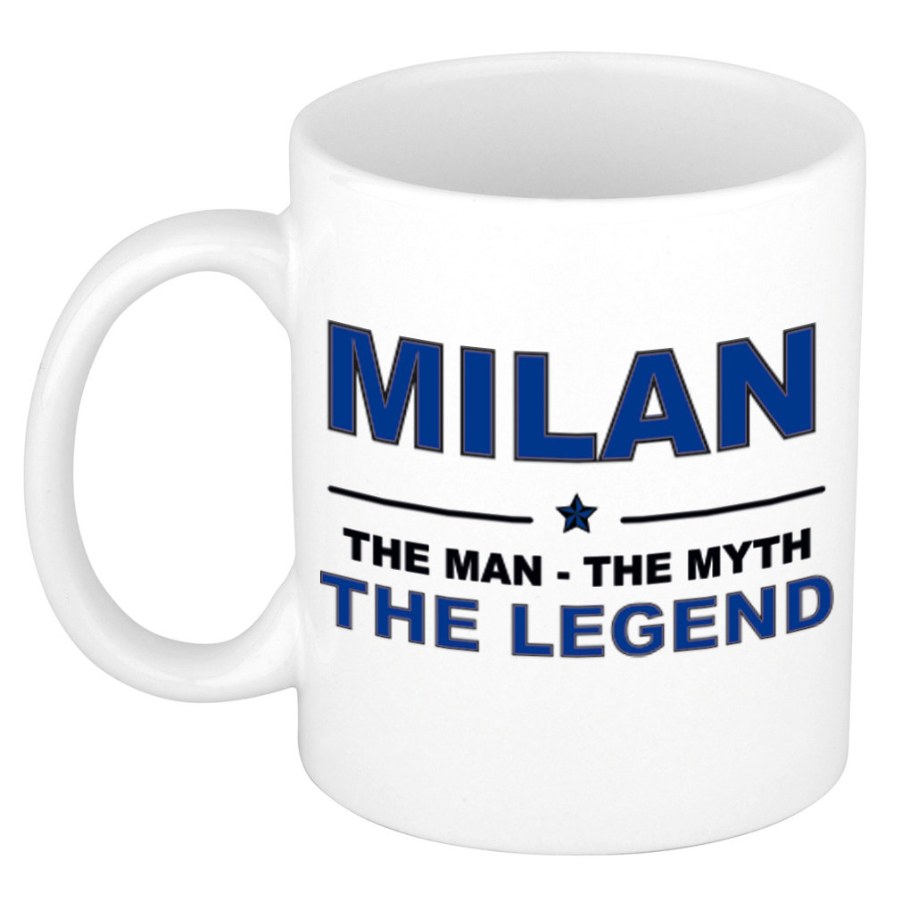Milan The man, The myth the legend pensioen cadeau mok/beker 300 ml
