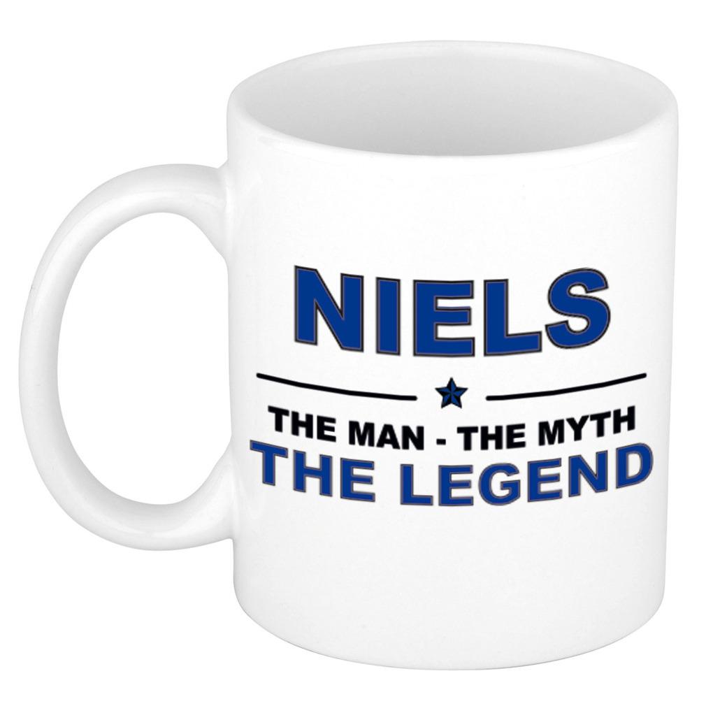 Niels The man, The myth the legend pensioen cadeau mok/beker 300 ml