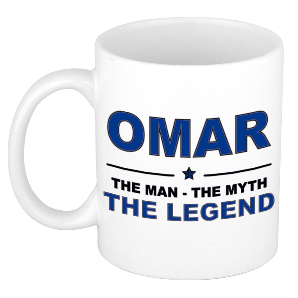 Omar The man, The myth the legend pensioen cadeau mok/beker 300 ml