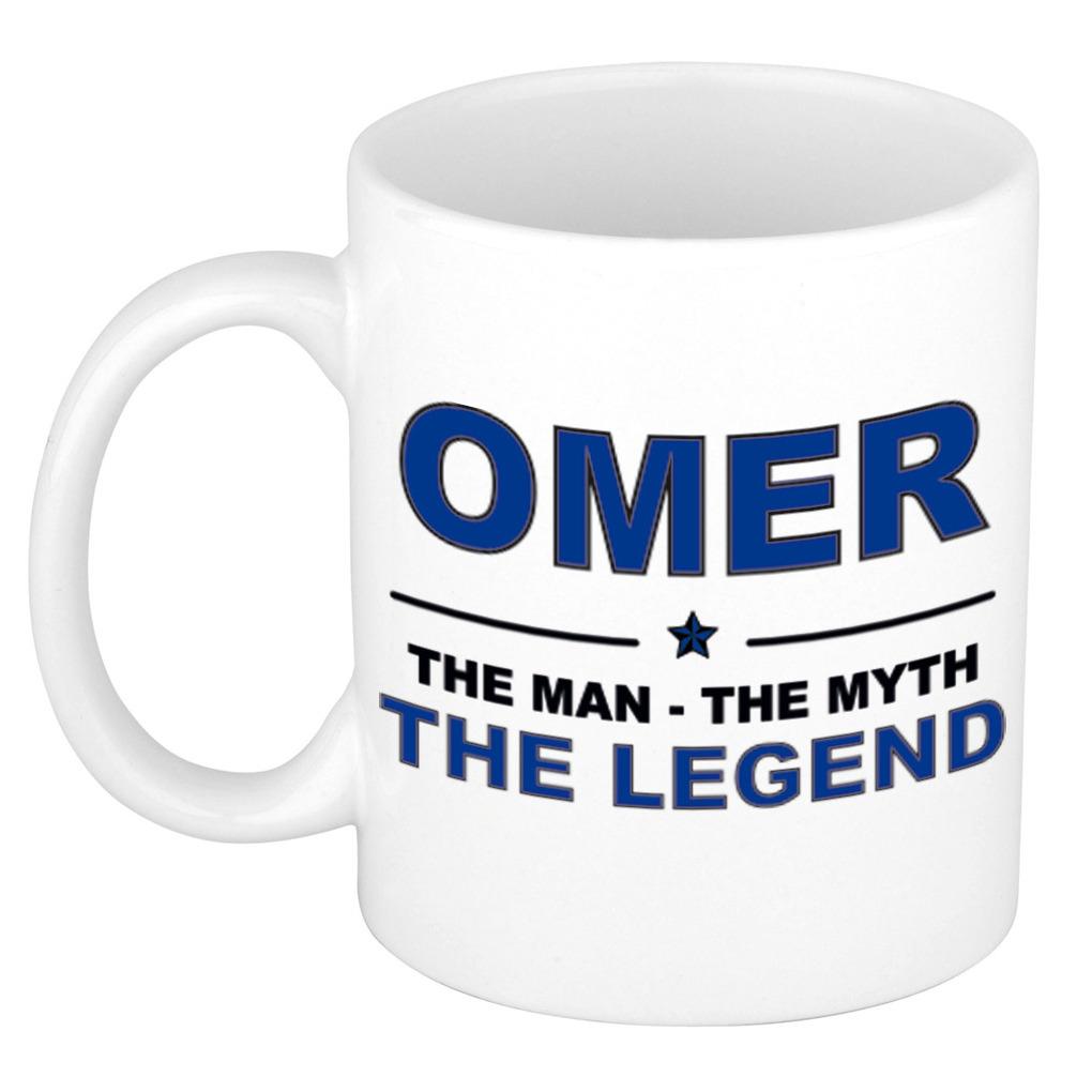 Omer The man, The myth the legend pensioen cadeau mok/beker 300 ml