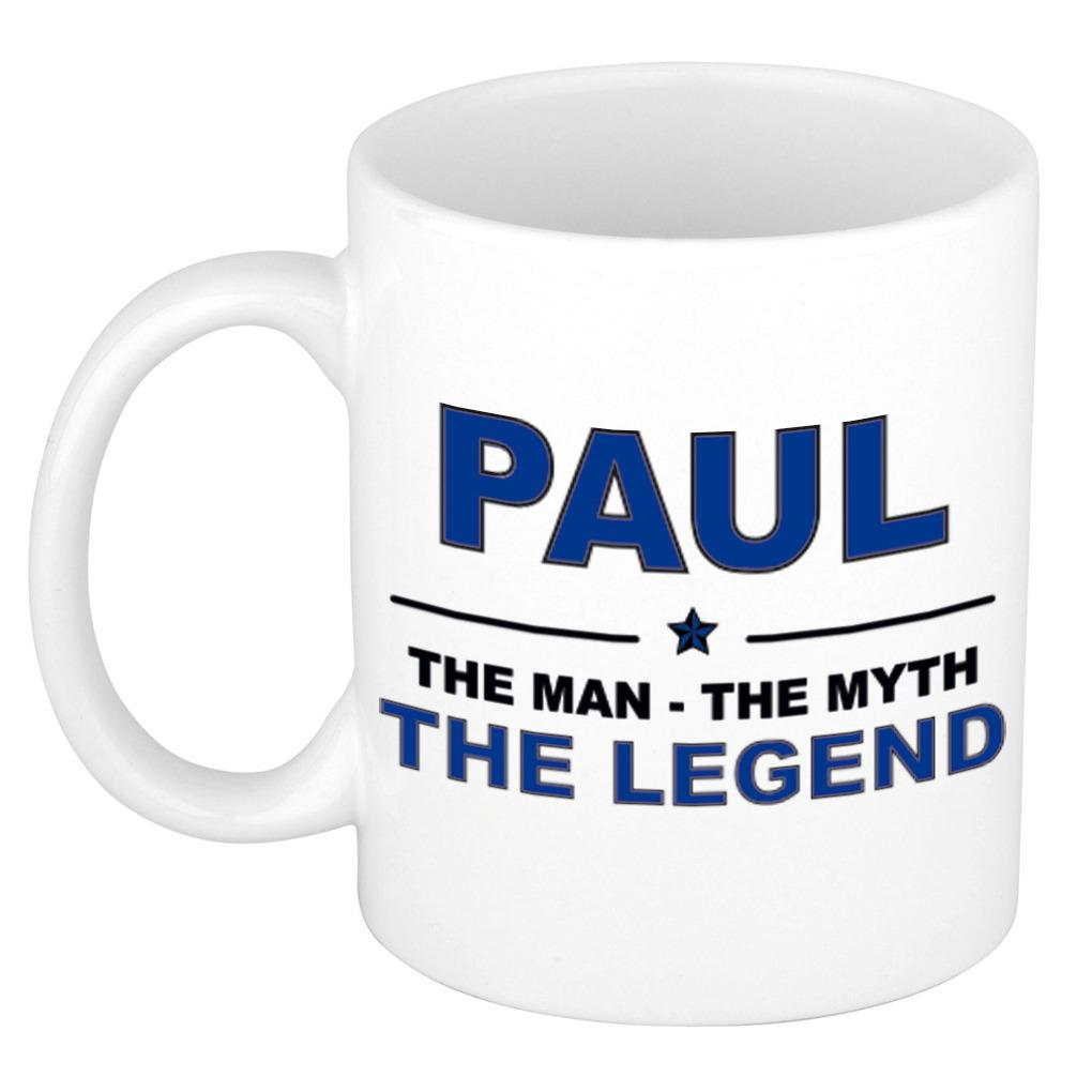 Paul The man, The myth the legend pensioen cadeau mok/beker 300 ml