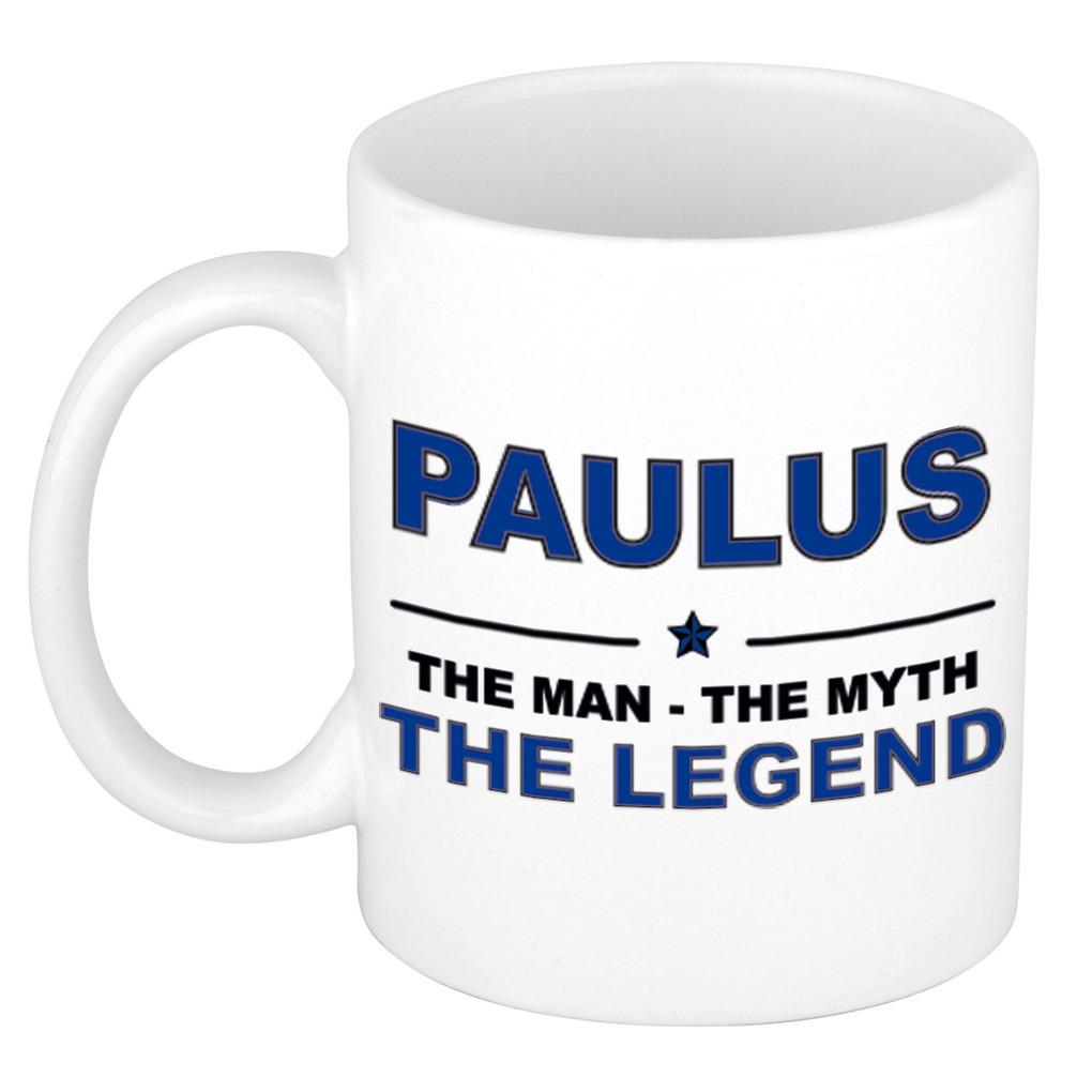 Paulus The man, The myth the legend pensioen cadeau mok/beker 300 ml