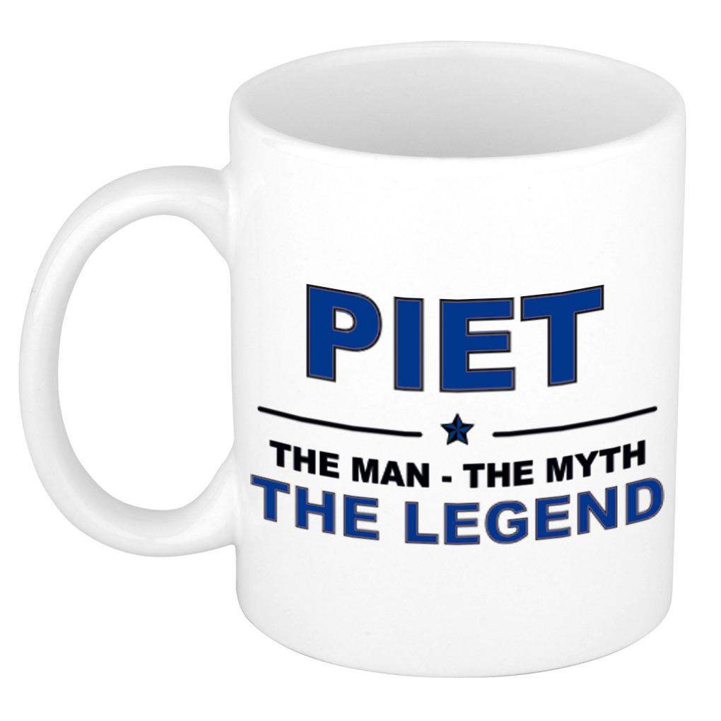 Piet The man, The myth the legend pensioen cadeau mok/beker 300 ml