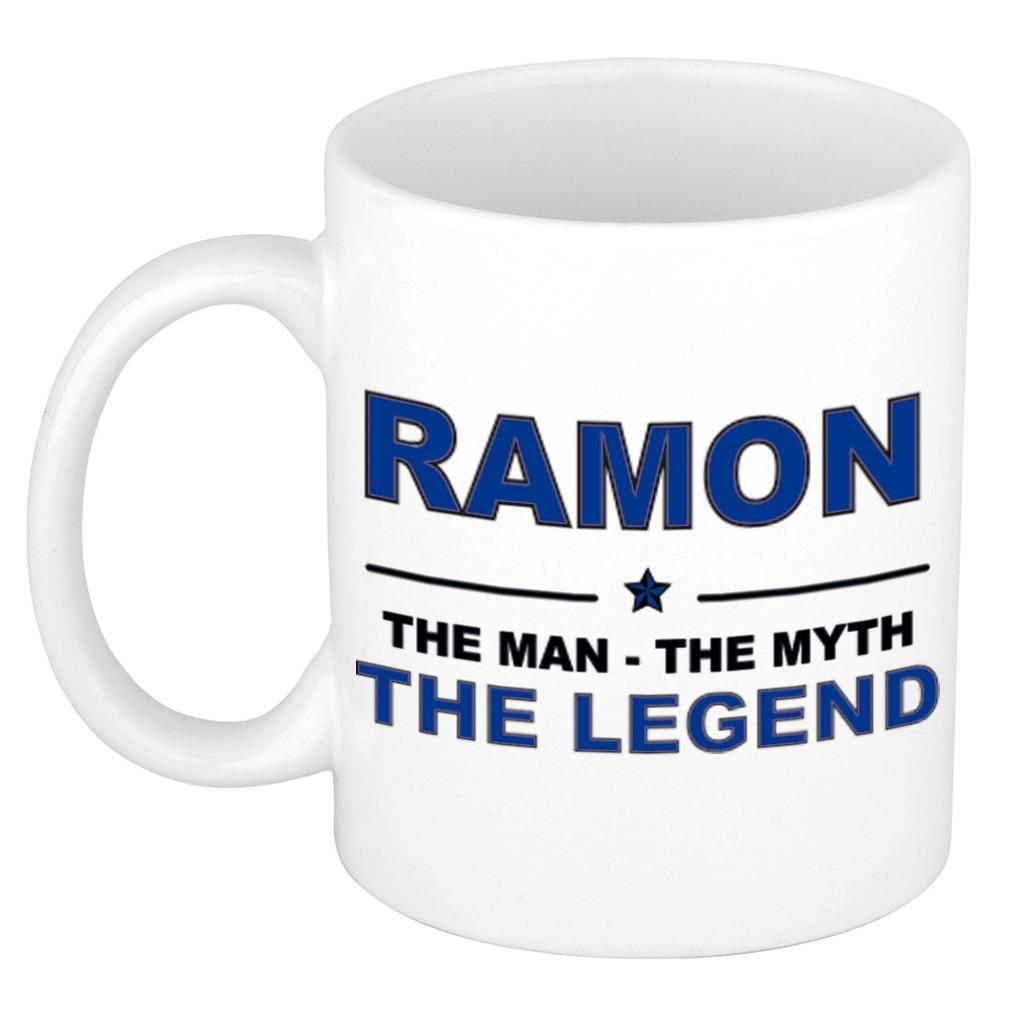 Ramon The man, The myth the legend pensioen cadeau mok/beker 300 ml