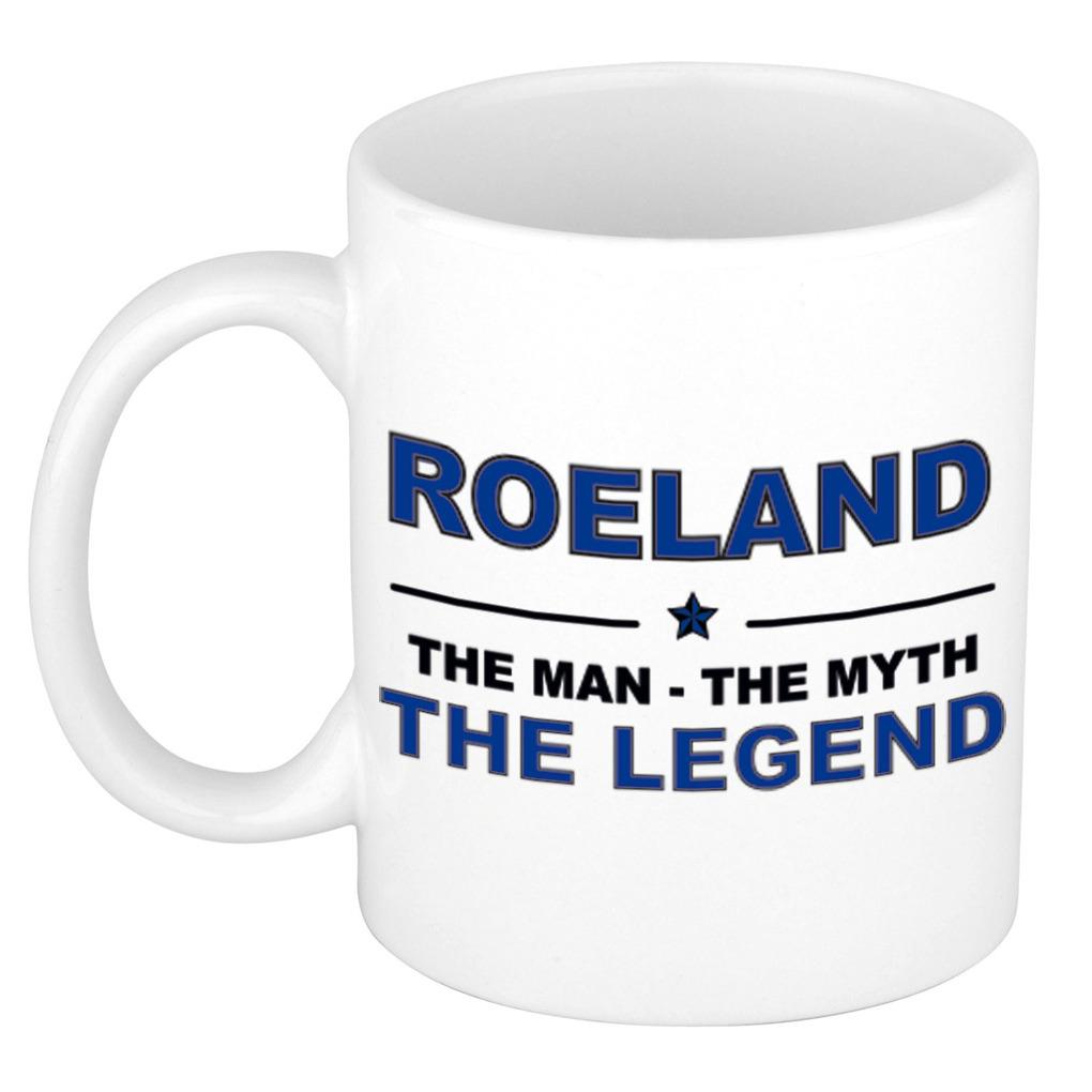 Roeland The man, The myth the legend pensioen cadeau mok/beker 300 ml