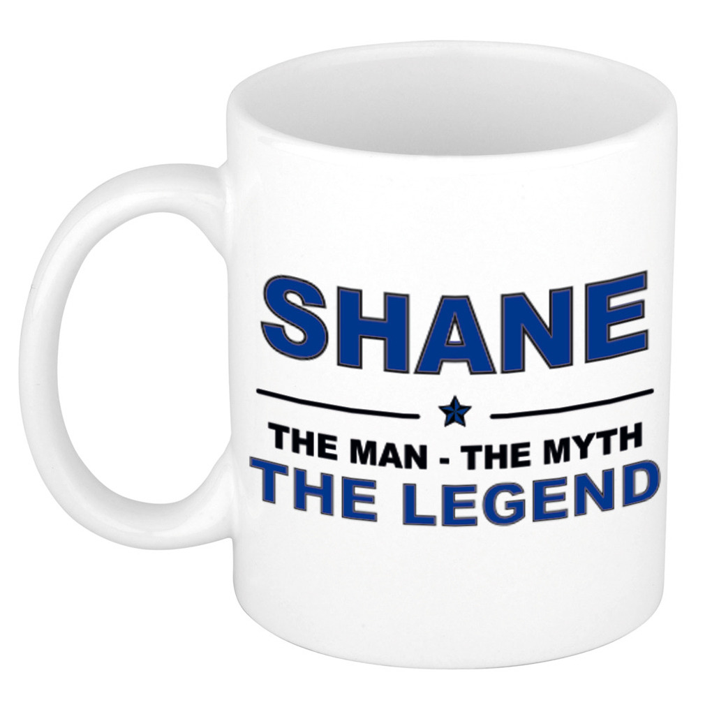 Shane The man, The myth the legend pensioen cadeau mok/beker 300 ml