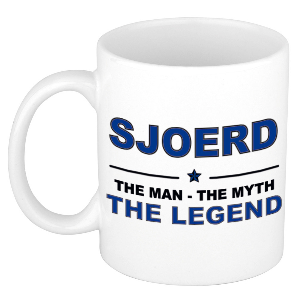 Sjoerd The man, The myth the legend pensioen cadeau mok/beker 300 ml