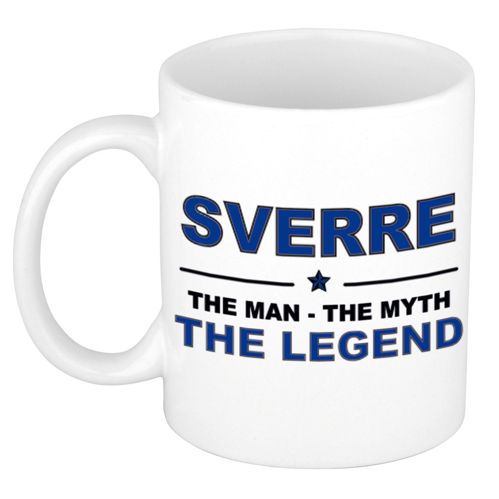 Sverre The man, The myth the legend pensioen cadeau mok/beker 300 ml